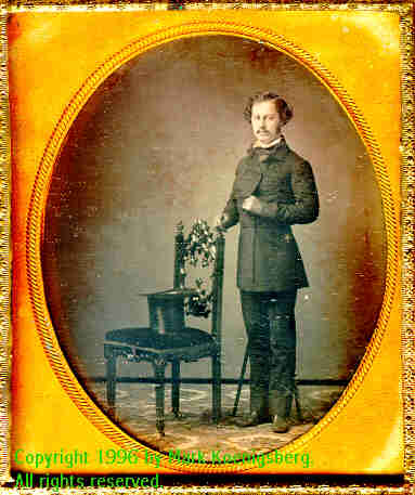 Sixth-plate daguerreotype of Standing Man, by Brady