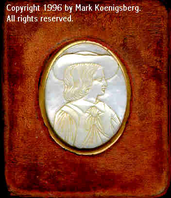 Ninth-plate velvet case with Mother-of-pearl Cameo