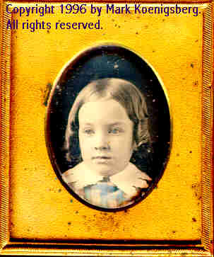 Ninth-plate daguerreotype of Pretty Girl Tinted Blue
