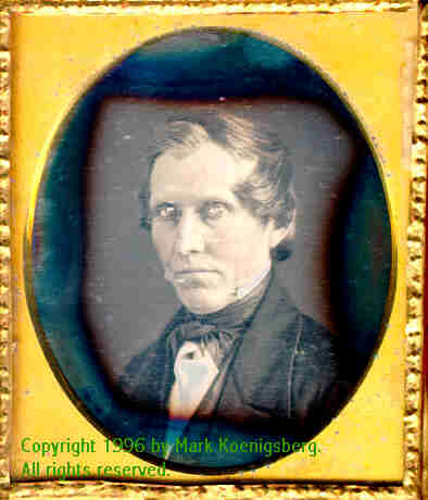 Sixth-plate daguerreotype Brightly-lit Man with Piercing Eyes