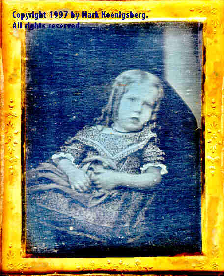 Quarter-plate daguerreotype of Girl Leaning on Couch
