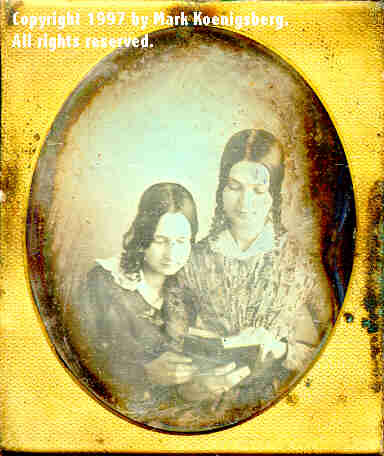 Sixth-plate daguerreotype of Two Sisters Reading