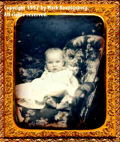 Sixth-plate daguerreotype of Child in White, named Carrie