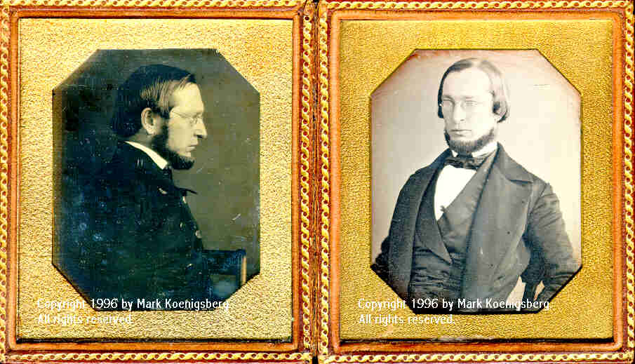 Two Sixth-plate daguerreotypes of Same Man)