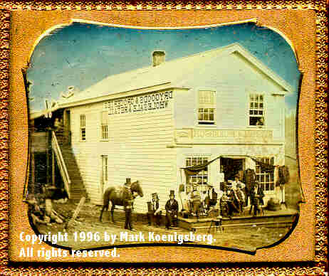 Sixth-plate daguerreotype of Marshall & Nickerson's Store