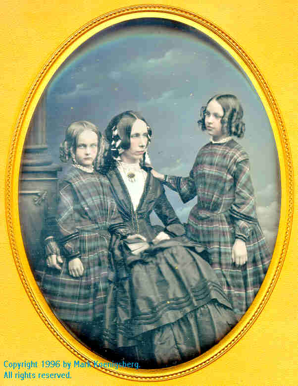 Half-plate daguerreotype of a Family of Three Taken by Lowe of Cheltenham