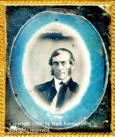 Sixth-plate daguerreotype of Man and Magic Circle Vignette