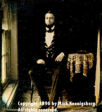 Sixth-plate daguerreotype of  Grandfather Geo. Gedney Near Window